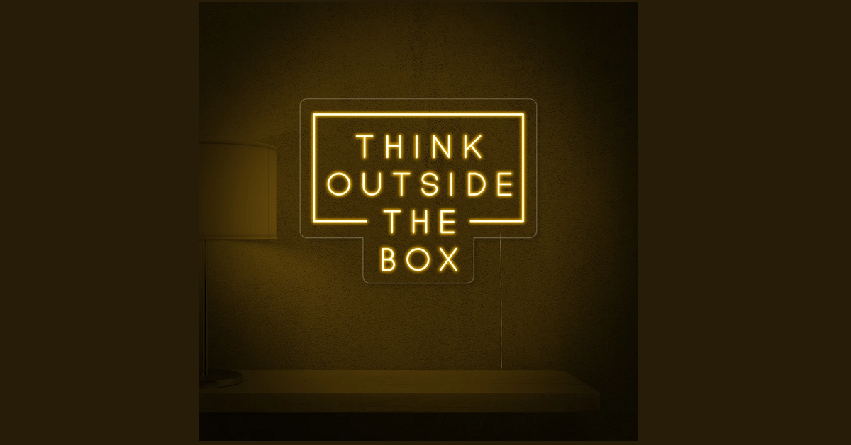 Think outside the box baner